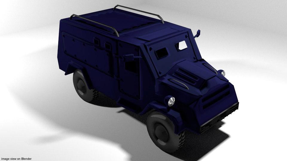 3D armoured car humber