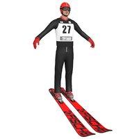 ski jumper 3D