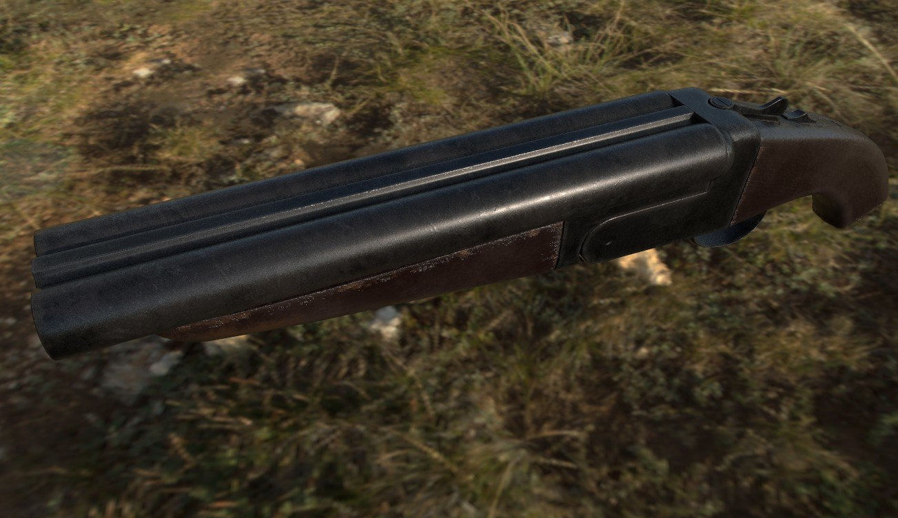 gun shotgun double 3D model