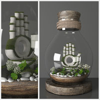 3D florarium decorative