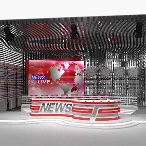 big tv studio 3D model
