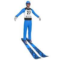 3D ski jumper model