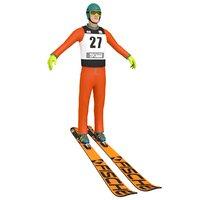 3D model ski jumper