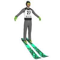 ski jumper 3D model