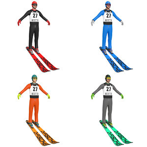 3D pack ski jumper