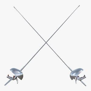 3D fencing sabre