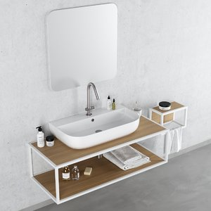 3D model frame washbasin glam