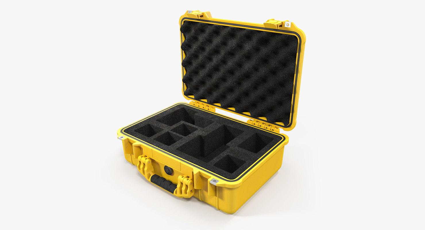 3D pelican case photo foam model