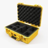 3D pelican case photo foam model