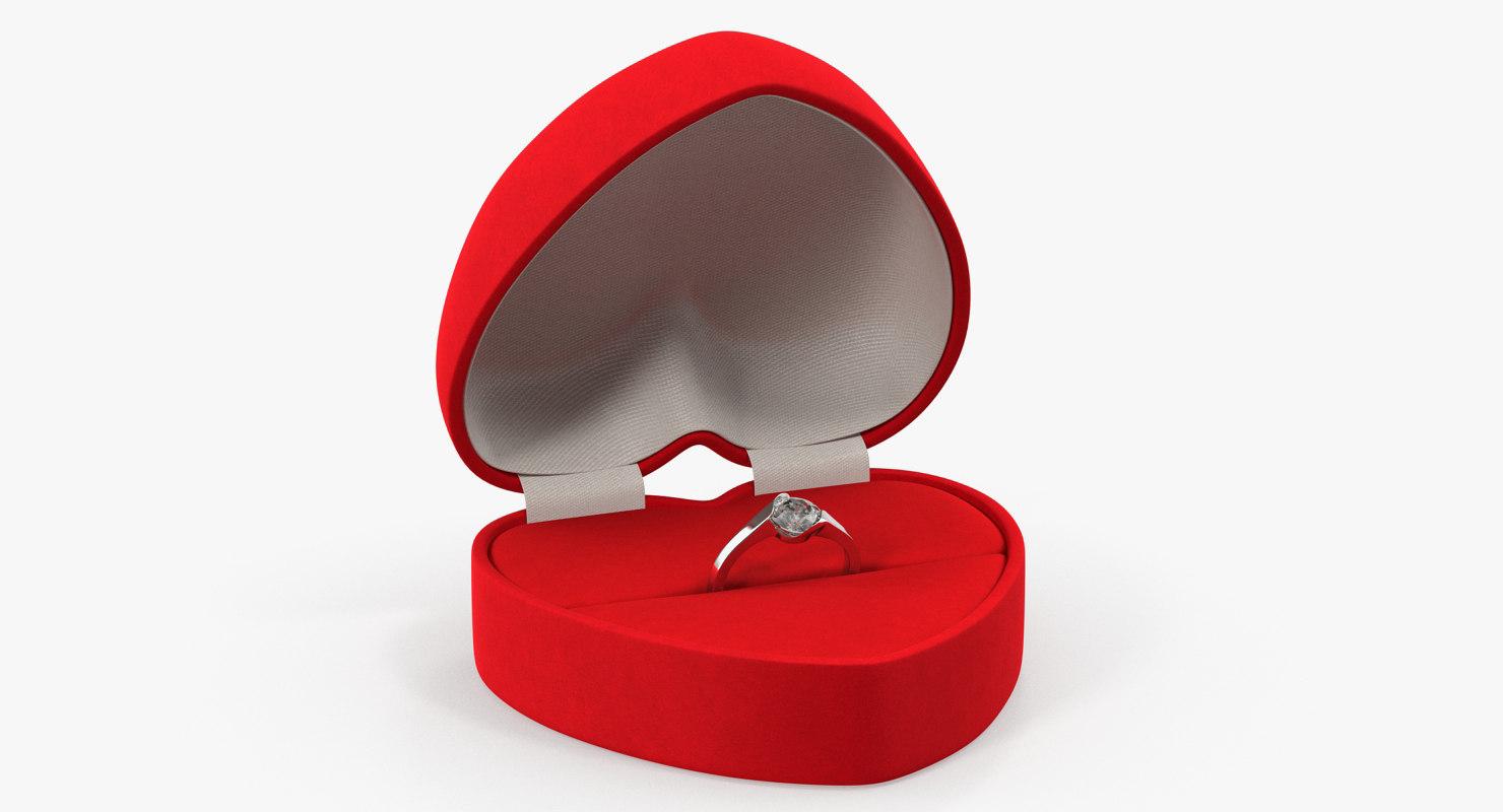 red heart shaped velvet 3D