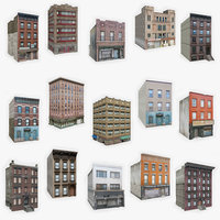 3D model 15 apartment buildings