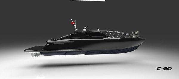 3D commander c60 boat model