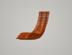 deckchair deck chair 3D
