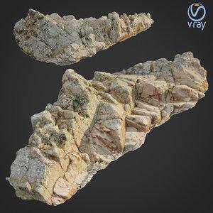 3D scanned rock cliff n2