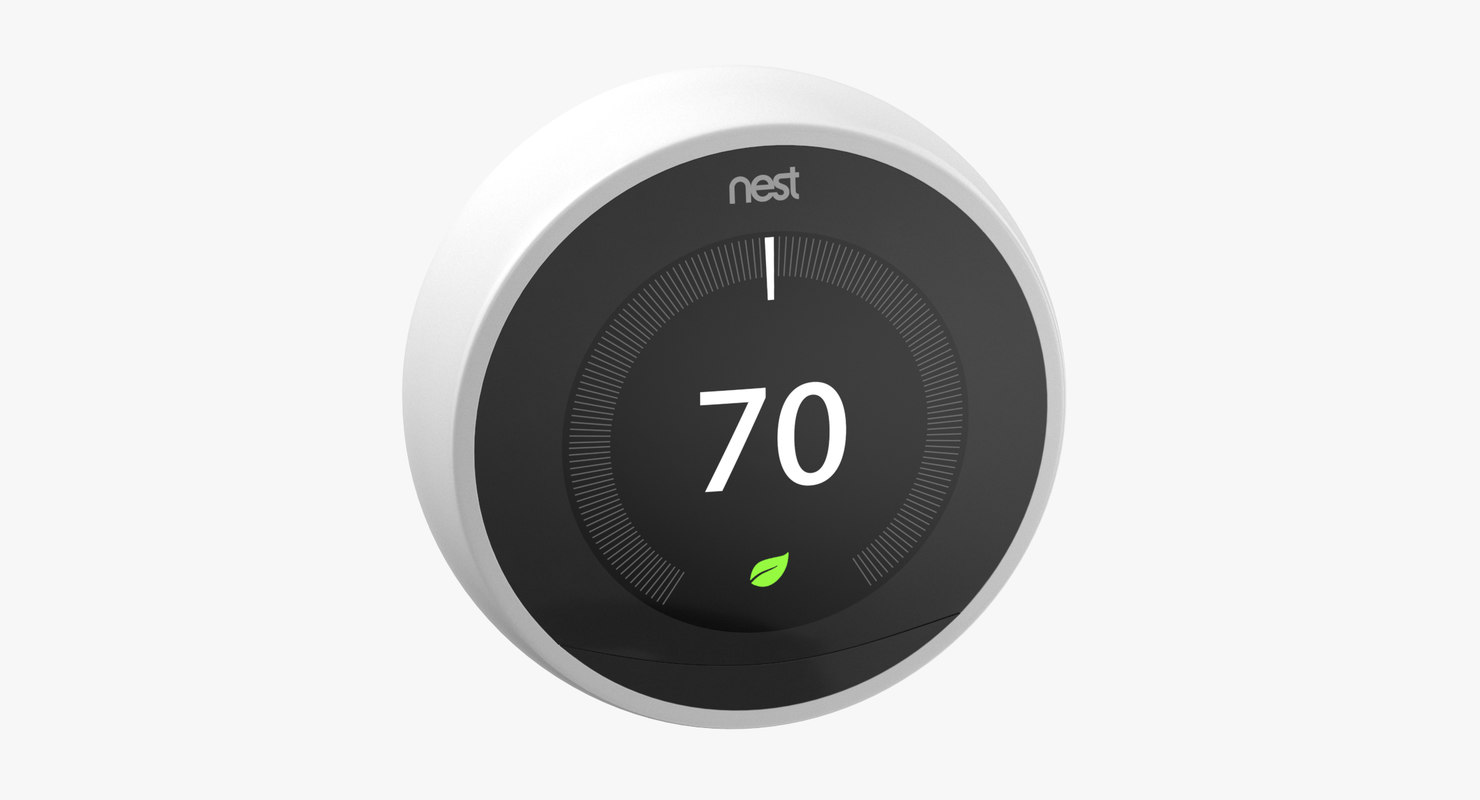 nest smart thermostat - 3D model