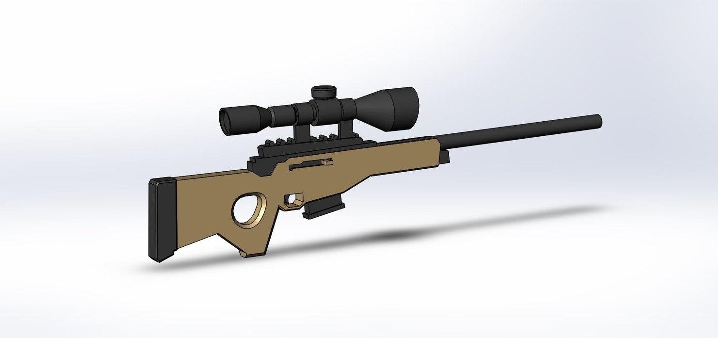 bolt action sniper 3D model