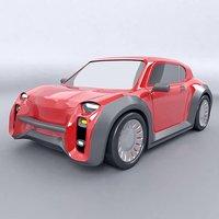 concept car retro 3D model