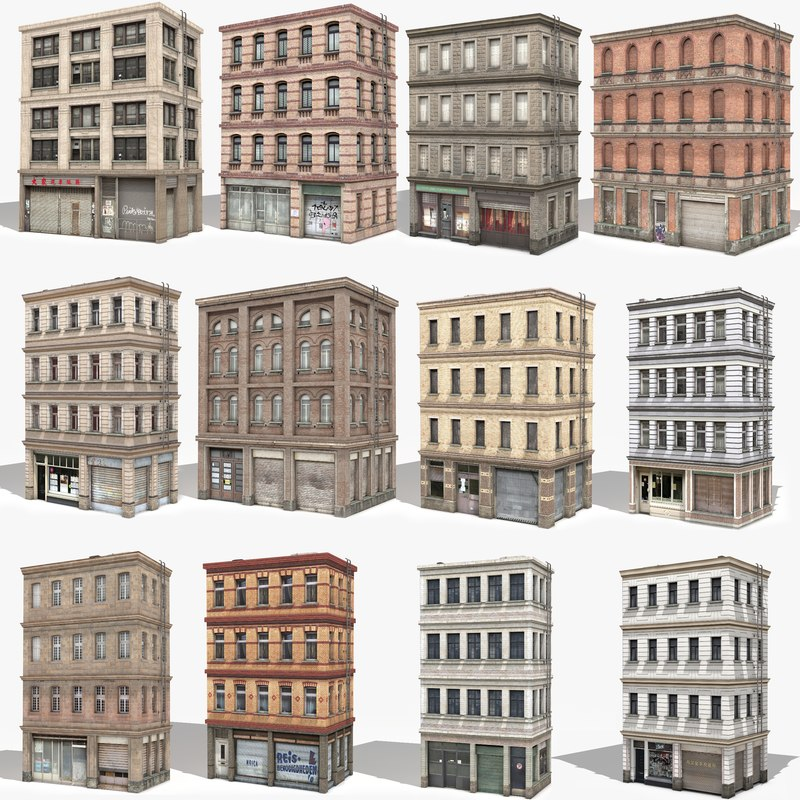 - apartment building 3D model