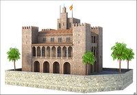 3D almudaina palace mallorca model
