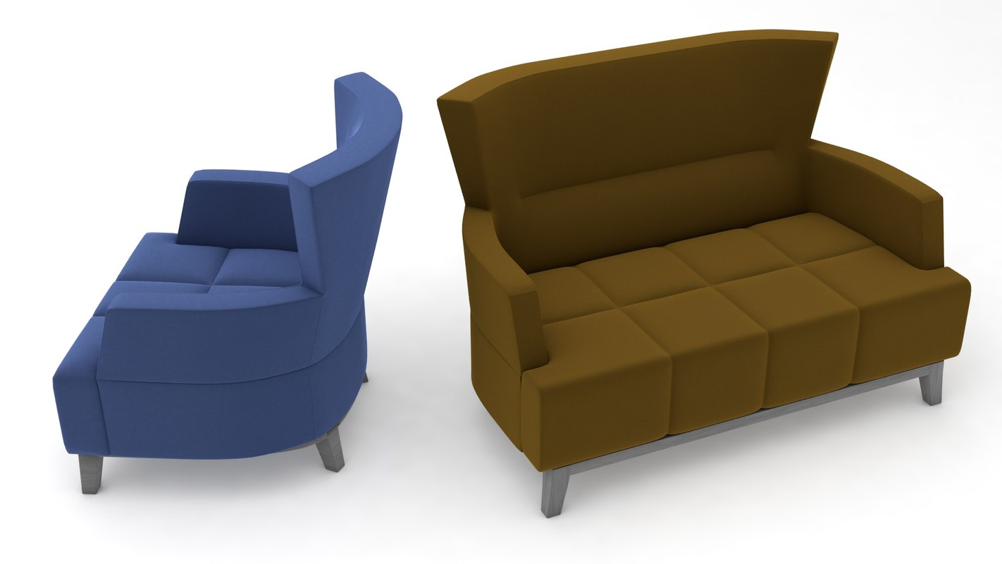 3D chair couch sofas