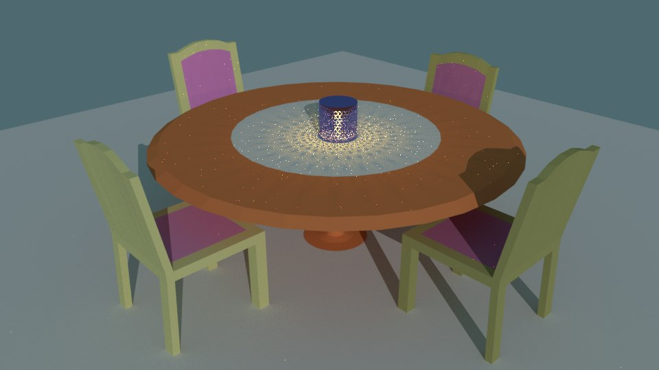 3D dining table model