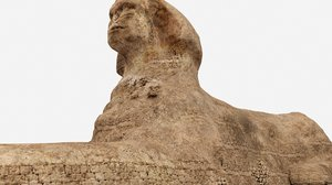 great sphinx pyramid 3D model