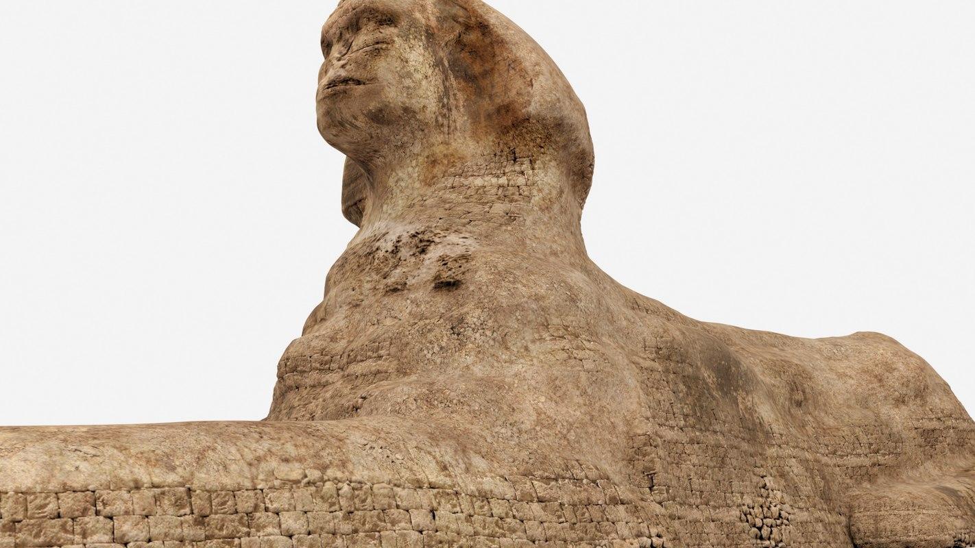 great sphinx pyramid 3D model