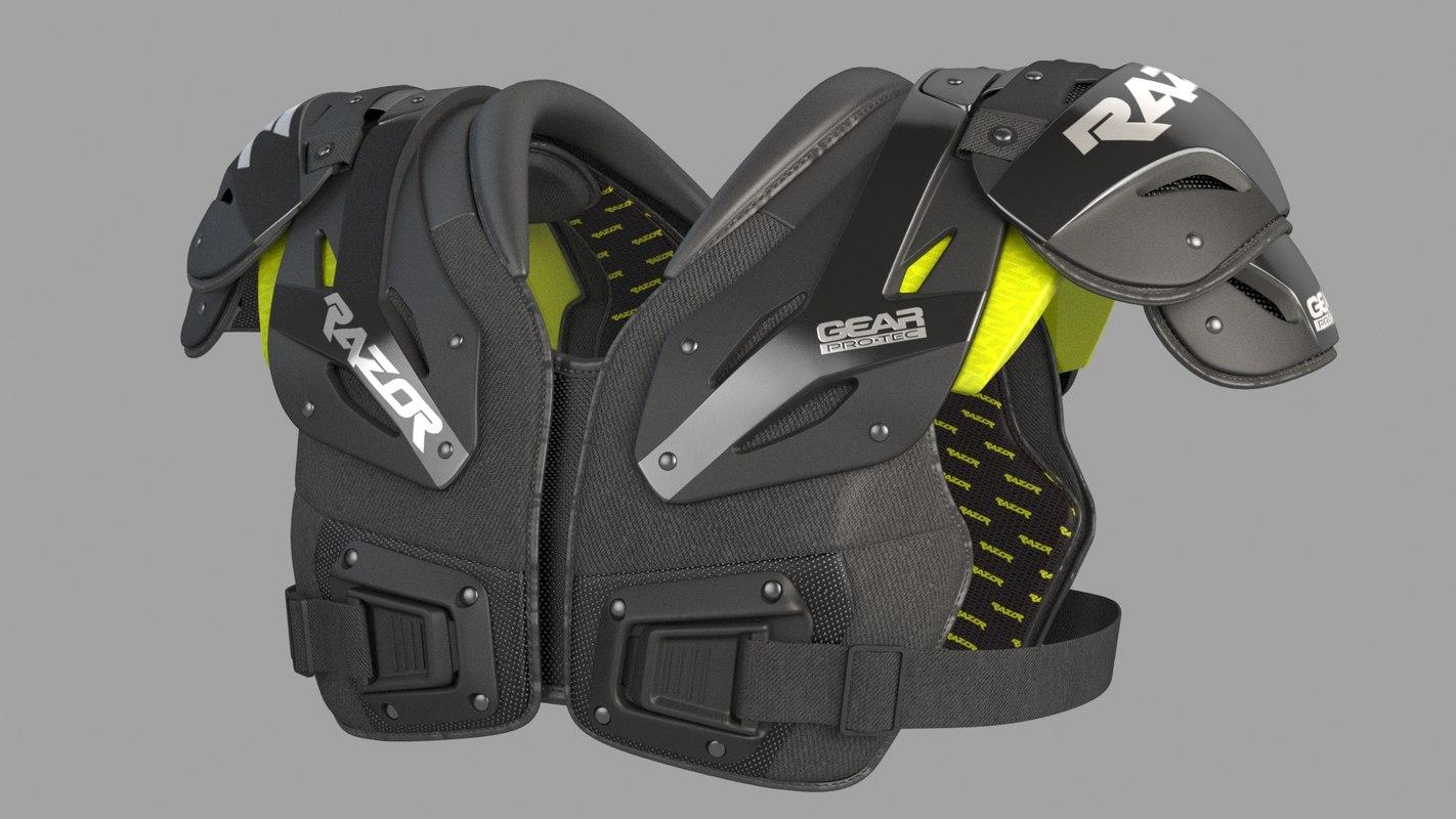 3D model shoulder pad