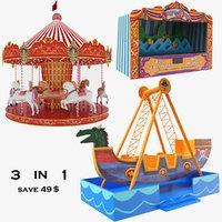 amusement carousel ride 3D model