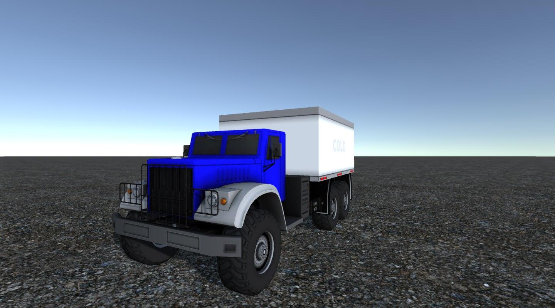 1 industrial cargo truck 3D model
