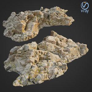 scanned rock cliff o2 3D model