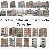Apartment Building - 24 Models Collection