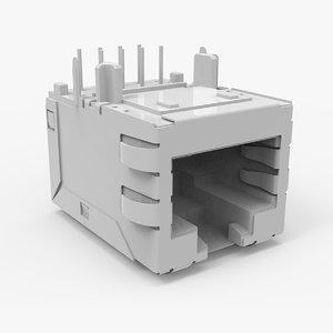3D rj45 ethernet connector