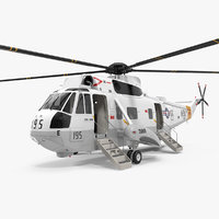 Sikorsky SH-3H Sea King USA Navy 3D Model