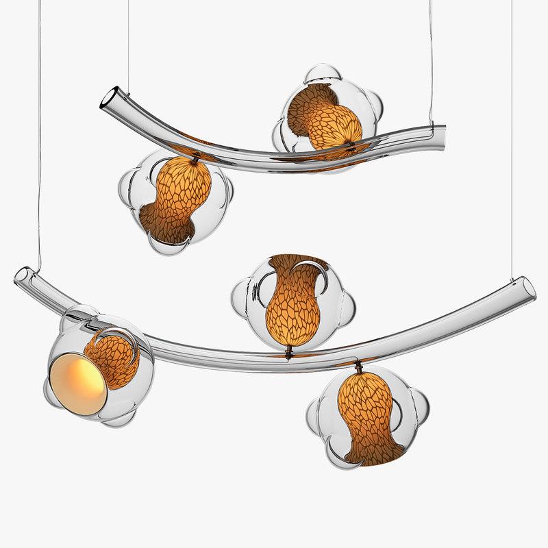 3D glass chandelier vezzini chen