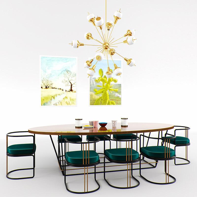diningroom set 2 3D model