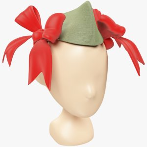 pioneer cap bows 3D model