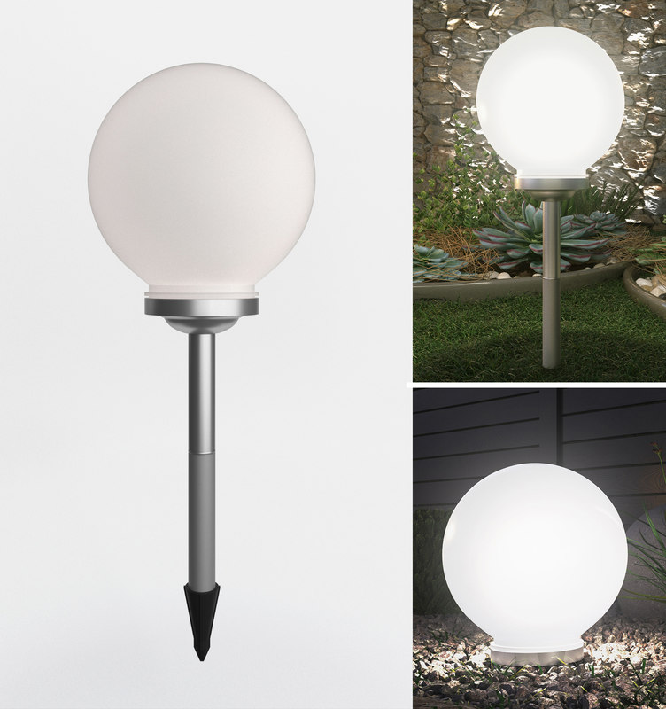 Garden Lamp 3d Model: 3D Solar Garden Light Model