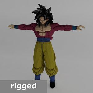 3D rigged goku