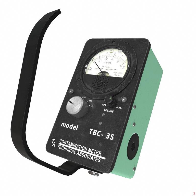 dosimeter geiger meter 3D model