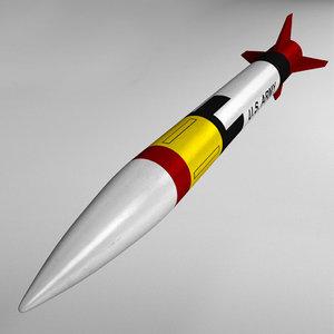 patriot missile mim-104 3D model