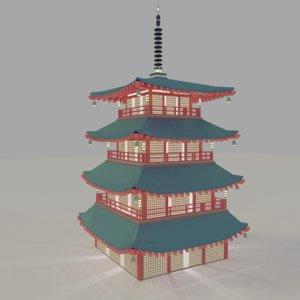 3D japan temple