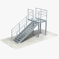 industrial stair 3D model