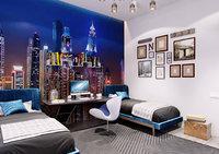 3D model bedroom scene modern interior