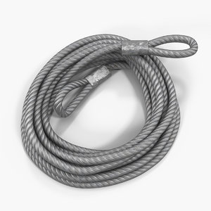 3D tow trailer strap cable
