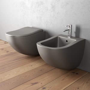 3D fluid bidet wall-hung toilet