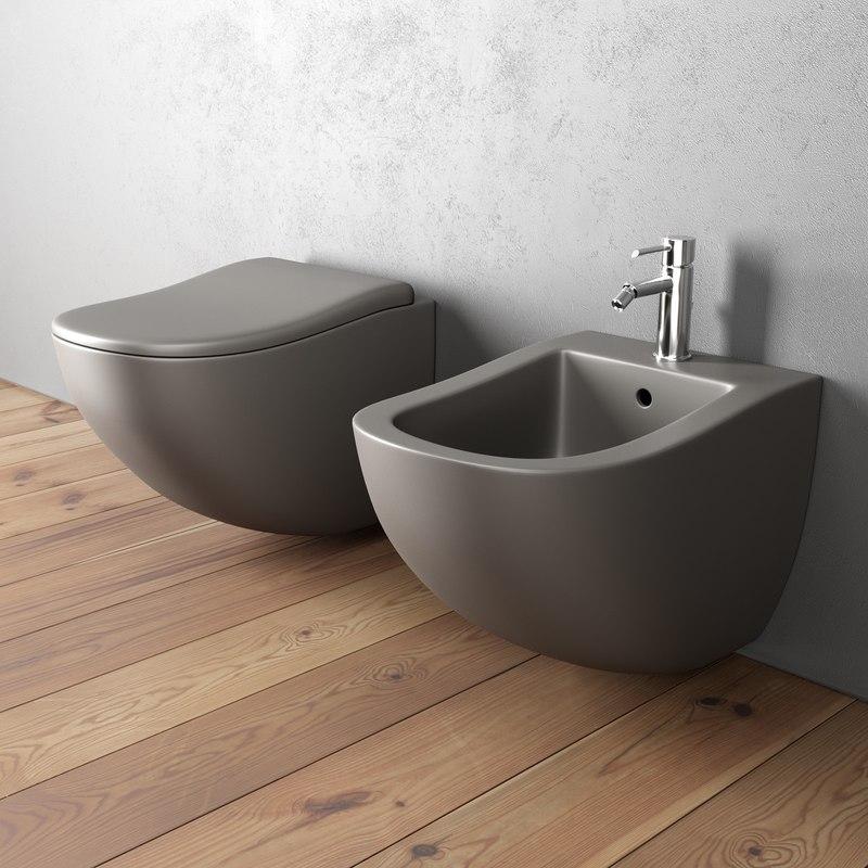3D fluid bidet wall-hung toilet