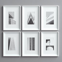 3D picture frames set -10
