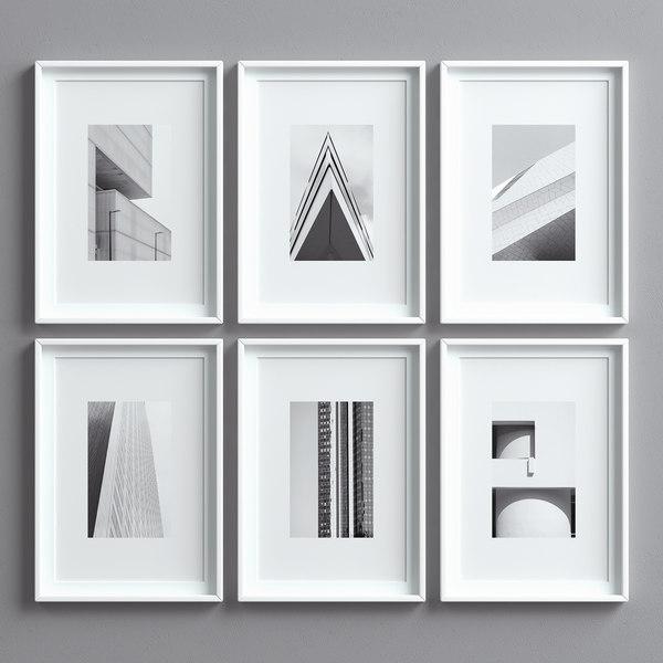 3D picture frames set -10