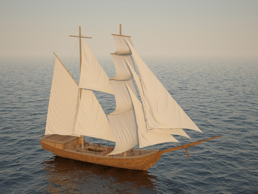 3D ship historical sea model